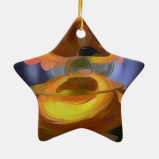 Solar Flare Pastel Abstract Ceramic Ornament