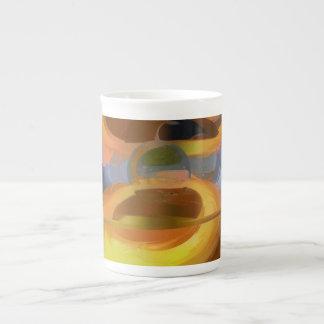 Solar Flare Pastel Abstract Tea Cup