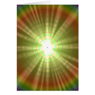 Solar flare star burst design card