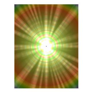 Solar flare star burst design postcard