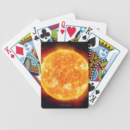 Solar Flares Bicycle Playing Cards
