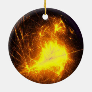 Solar Flares Ceramic Ornament