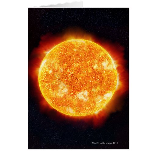 Solar Flares Greeting Card