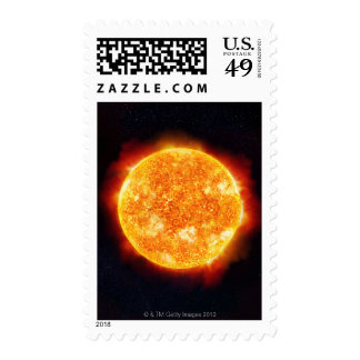 Solar Flares Postage Stamps