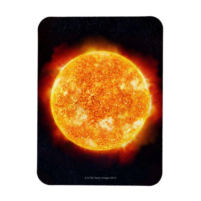 Solar Flares Rectangular Photo Magnet