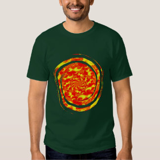 Solar Flares: Red Yellow Spiral Fractal T-shirt