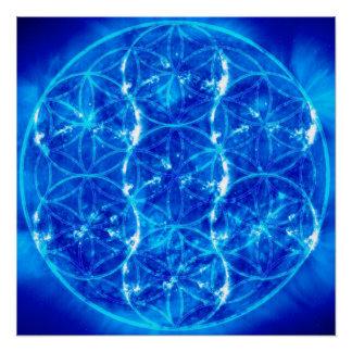 Solar Flower of Life Poster