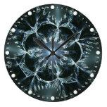 Solar Flower Round Wall Clocks
