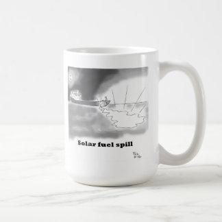 Solar fuel spill coffee mugs