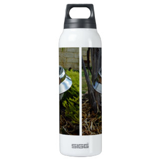 Solar garden light 16 oz insulated SIGG thermos water bottle