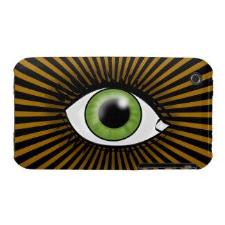 Solar Green Eye iPhone 3 Case-Mate Cases