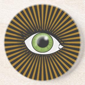 Solar Green Eye Coaster