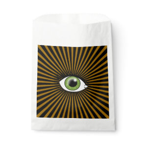 Solar Green Eye Favor Bag