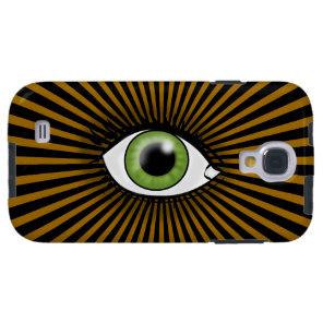 Solar Green Eye Galaxy S4 Case