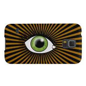 Solar Green Eye Galaxy S5 Cover