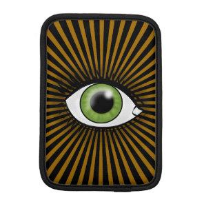 Solar Green Eye iPad Mini Sleeve