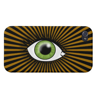 Solar Green Eye Cases For iPhone 4