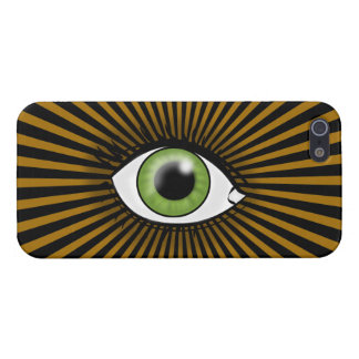 Solar Green Eye Cases For iPhone 5