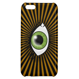 Solar Green Eye iPhone 5C Cases