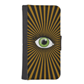 Solar Green Eye iPhone SE/5/5s Wallet Case