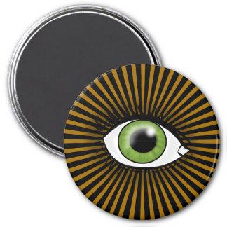 Solar Green Eye Refrigerator Magnet