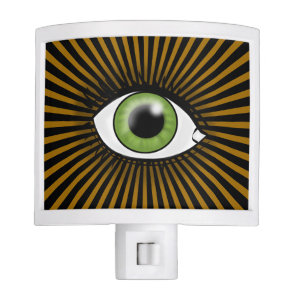 Solar Green Eye Night Light
