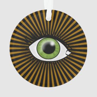 Solar Green Eye Ornament