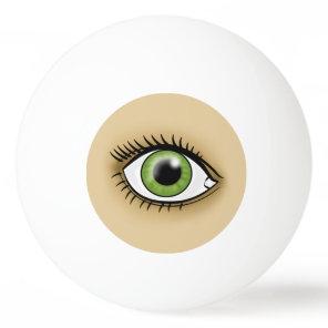 Solar Green Eye Ping Pong Ball