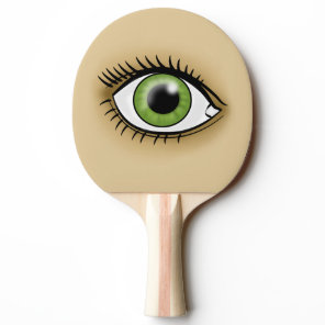 Solar Green Eye Ping-Pong Paddle