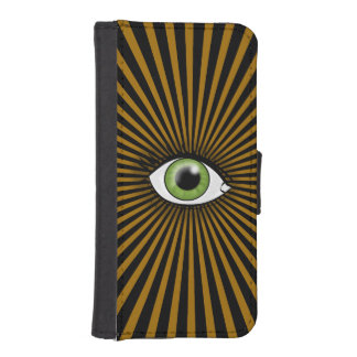 Solar Green Eye iPhone 5 Wallet Cases