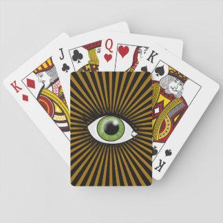 Solar Green Eye Playing Cards