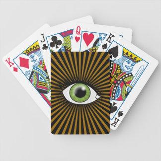 Solar Green Eye Card Decks