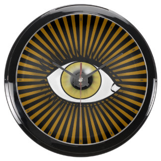 Solar Hazel Eye Aquarium Clocks