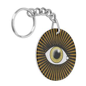 Solar Hazel Eye Keychain
