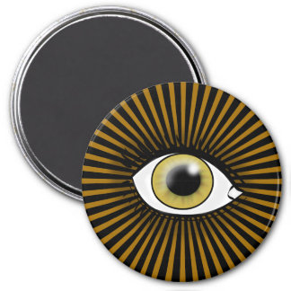 Solar Hazel Eye Refrigerator Magnet