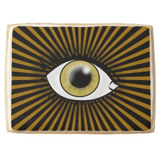 Solar Hazel Eye Shortbread Cookie