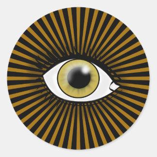 Solar Hazel Eye Classic Round Sticker