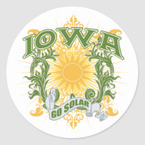Solar Iowa Classic Round Sticker