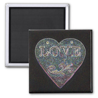 Solar Love Heart Magnet