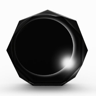 Solar Lunar Eclipse Moon Sun Flare Photography Acrylic Award