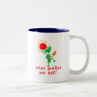 Solar Makes Me Hot! Two-Tone Coffee Mug