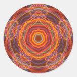 Solar Mandala Kaliedoscope Fractal Art Sticker