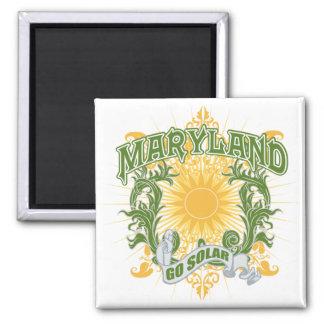 Solar Maryland Fridge Magnet