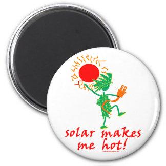 ¡Solar me hace caliente Imán