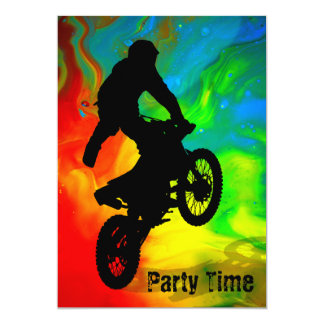 Solar Meltdown Motocross Card