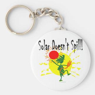 Solar no derrama la camiseta y más llavero redondo tipo pin
