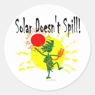 Solar no derrama la camiseta y más etiquetas redondas