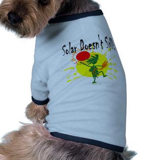 Solar no derrama la camiseta y más ropa perro