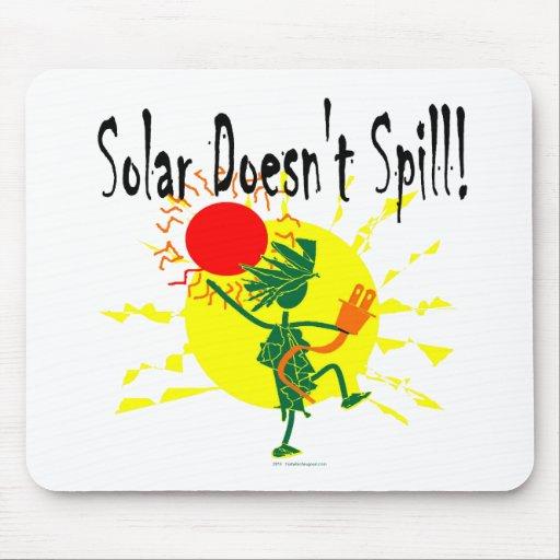 Solar no derrama la camiseta y más tapete de ratones