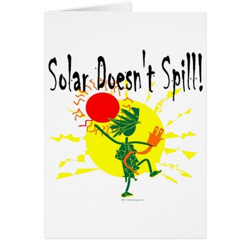 Solar no derrama la camiseta y más tarjeta de felicitación